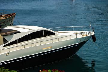 Great yacht in Monaco harbour