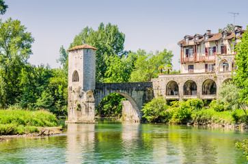Pont de la Legende, or Bridge of Legend in Sauveterre-de-Bearn
