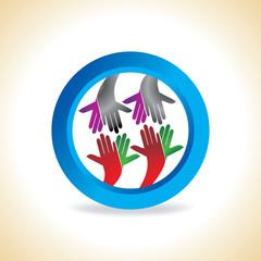 creative hand concept vector illustration