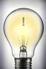 Glühbirne und die Idee