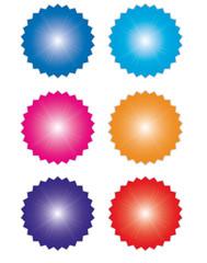 Autocollant - Badge - Bannière - Icones