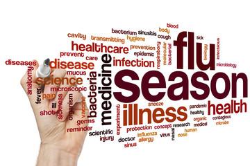 Flu season word cloud