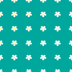 Flower pattern on a turquoise background