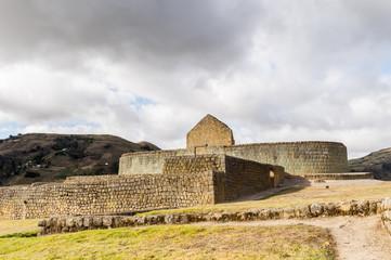 Nature and ruins of Ingapirca, Inca city,  Canar Province, EcuadoEcuador