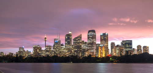 Sydney city view from royal botanic garden, Australia.