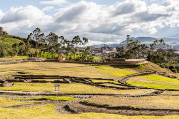Nature and ruins of Ingapirca, Inca city,  Canar Province, EcuadoEcuador