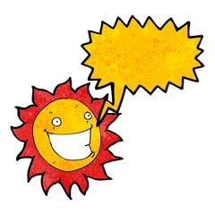 grinning sun cartoon character