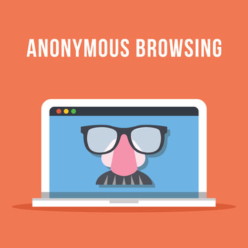 Anonymous browsing flat illustration concept