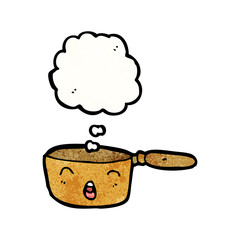 cartoon copper saucepan