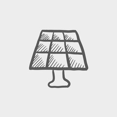 Lamp sketch icon
