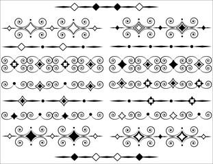 Ornamente, Linien  zum Dekorieren