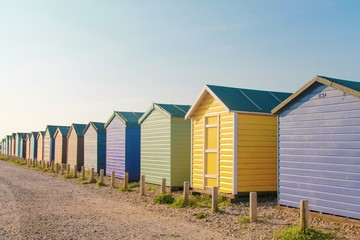 Beach huts on the seafront