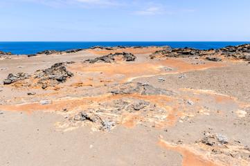 Landscape of the Bartalome Island, Galapagos Islands, Ecuador
