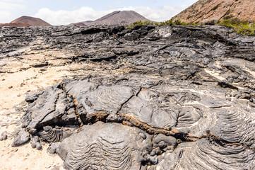 Lava on the Santiago Island, Galapagos Islands, Ecuador
