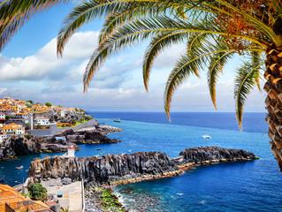 Camara de Lobos, small fisherman village on Madeira island