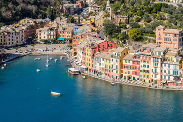 Beautiful panorama of Portofino, Italy