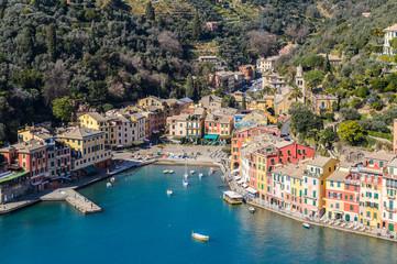 Fotobehang Kust Beautiful panorama of Portofino, Italy