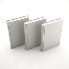 Stack of gray books
