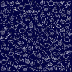 The beautiful sample of a background of different objects