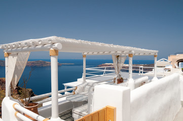 White Santorini Terraces