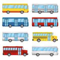 Set of buses.