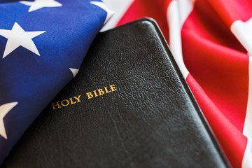 Bible, Religion, American Flag. Wall mural