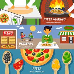Pizza Banners Set