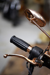 Motorcycle lever and mirror