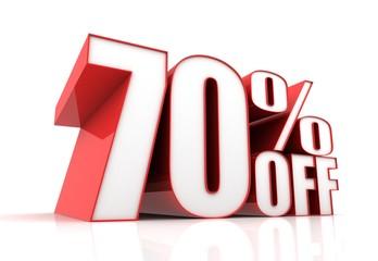 seventy percent off sale