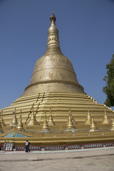 Great Stupa in the Shwemawdaw Pagoda.Bago,Myanmar
