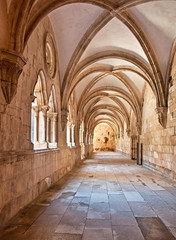 Interior of the Famous Monastery of Batalha in Portugal