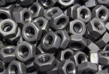 The nuts at line production automotive part.