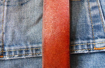 denim jeans and leather belt