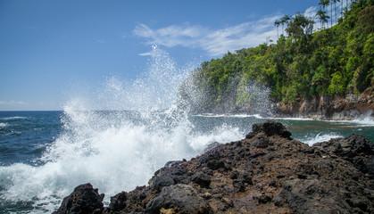 Epic Splash on the Rocky Shore
