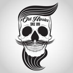 hipster Skull logo