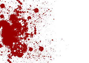 Vector splatter red color background. Vector illustration. Grung