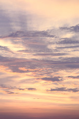 Sunset sky and cloud