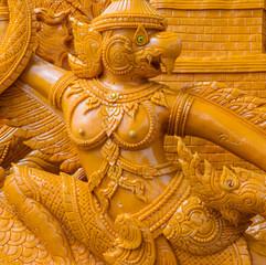 Thai candle wax sculpture of garuda