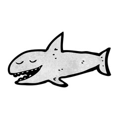 grinning cartoon shark