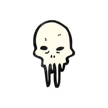 gross melting skull cartoon