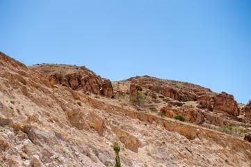 Dunes of the desert in Jordan