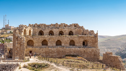 Part of the Kerak Castle, a large crusader castle in Kerak (Al Karak) in Jordan.