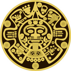 Vector ornament in the style of the ancient Maya