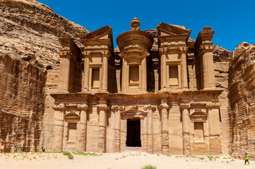 Ad Dayr Monastery, Petra, one of the New Sewen Wonders of the World, Jordan