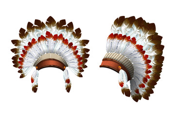 War bonnet vector Indian.