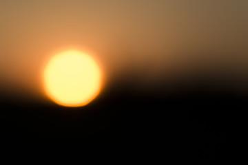Abendsonne unscharf