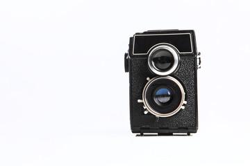antica macchina fotografica a a pozzetto