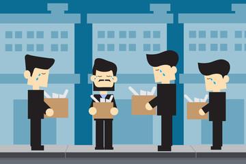 MEN unemployed cartoon design