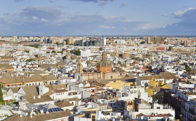 Sevilla Spain aerial view