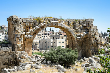 Ruins of the ancient Roman city of Gerasa, modern Jerash, Jordan